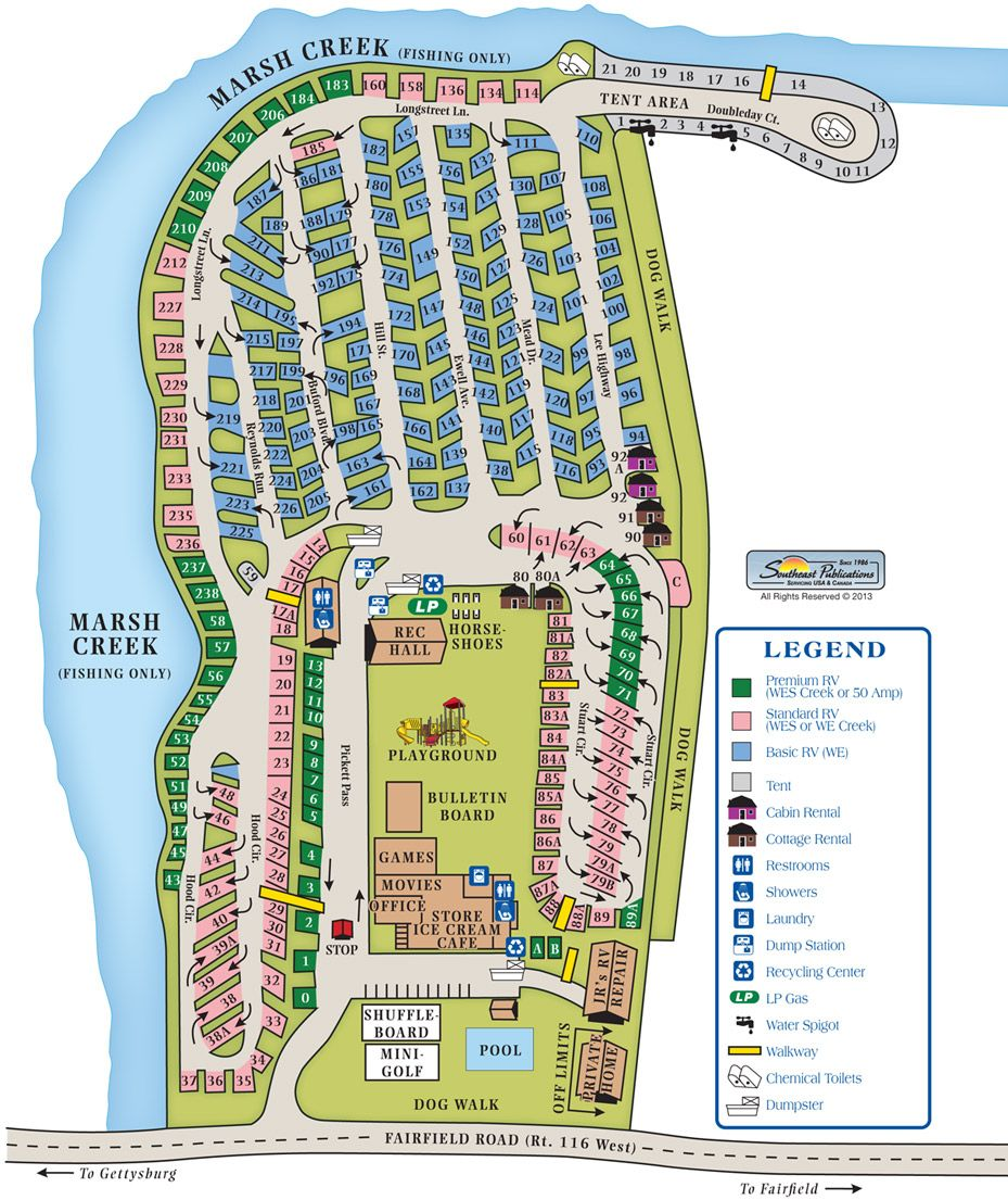 Gettysburg Campground Site Map | Camping Tips | Pinterest | Site map ...