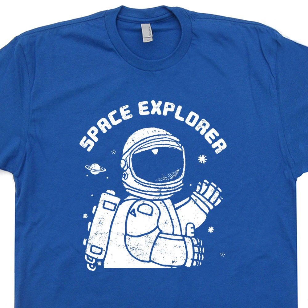 Space Explorer Vintage T shirt Nasa Science Tees Cool Geek T ...
