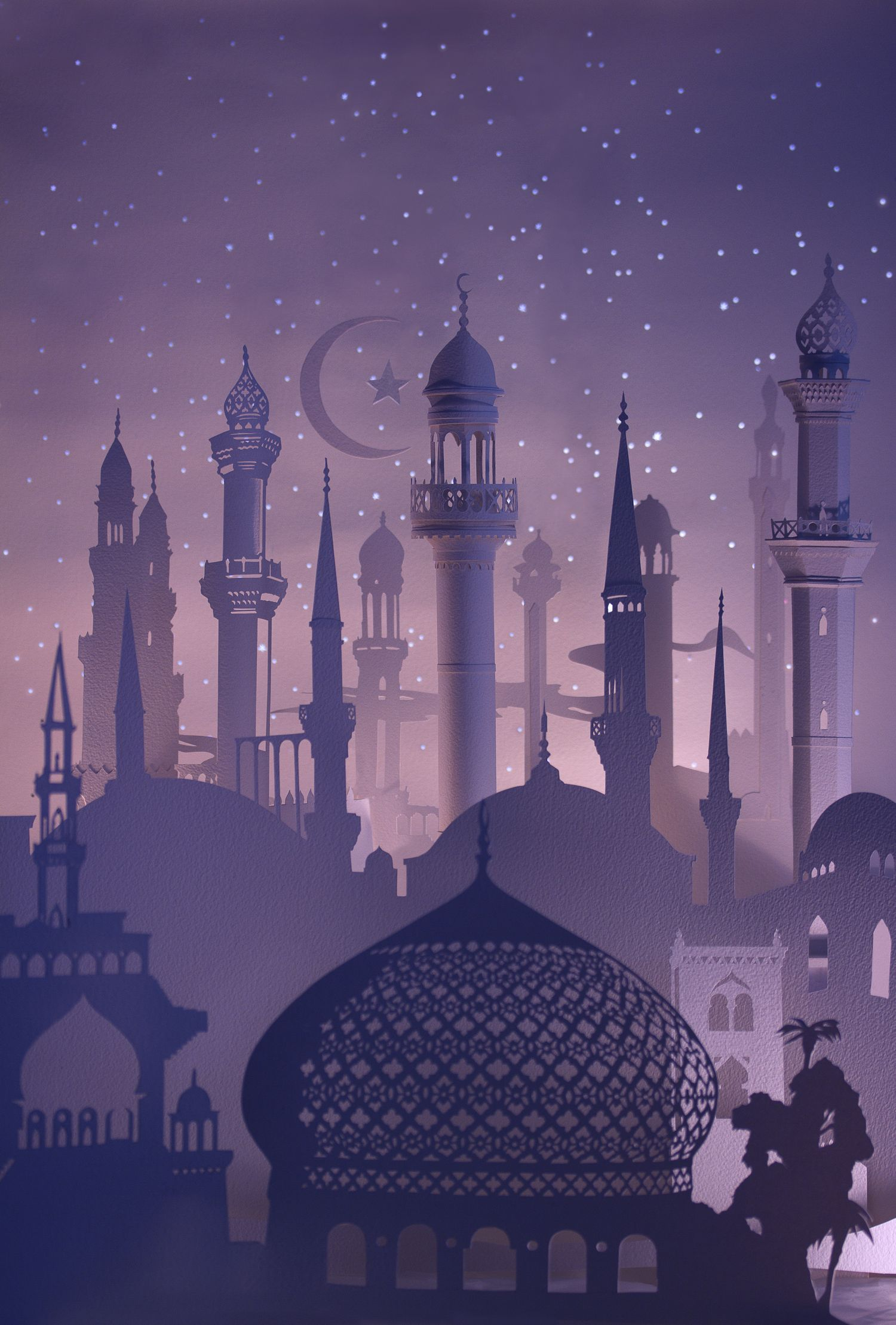 Mosque Illustration Wallpaper