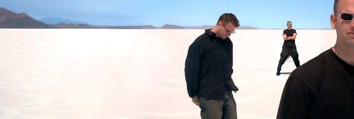 in the salt flats (Utah)