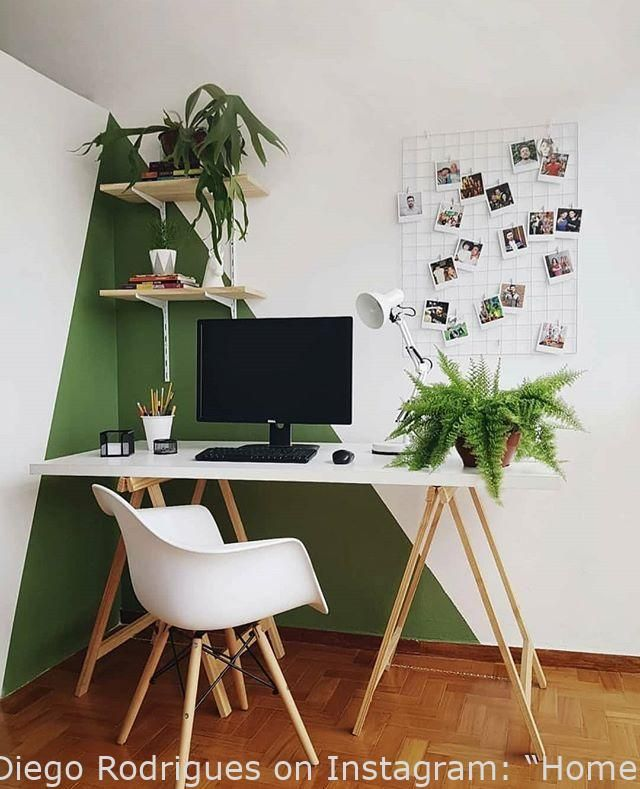 Rustic Homeoffice Design: Dwelling Business. With Wall Portray