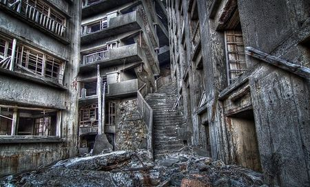 Ghost Towns. Gunkanjima is one of 505 uninhabited islands in the Nagasaki Prefecture of Japan, roughly 15km from Nagasaki. Founded by Mitsubishi in 1890, the island was once home to a thriving coal mining community.