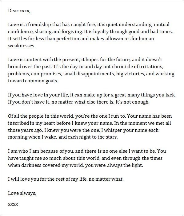 Marvelous Sample Love Letters Sample Of Love Letter For Boyfriend   Best Letter Sample With Love Letter Template For Him