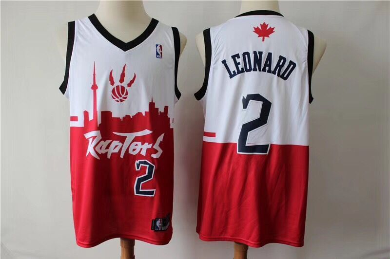 New Season Toronto Raptors #2 Kawhi Leonard Basketball Jersey Red Size:S-XXL