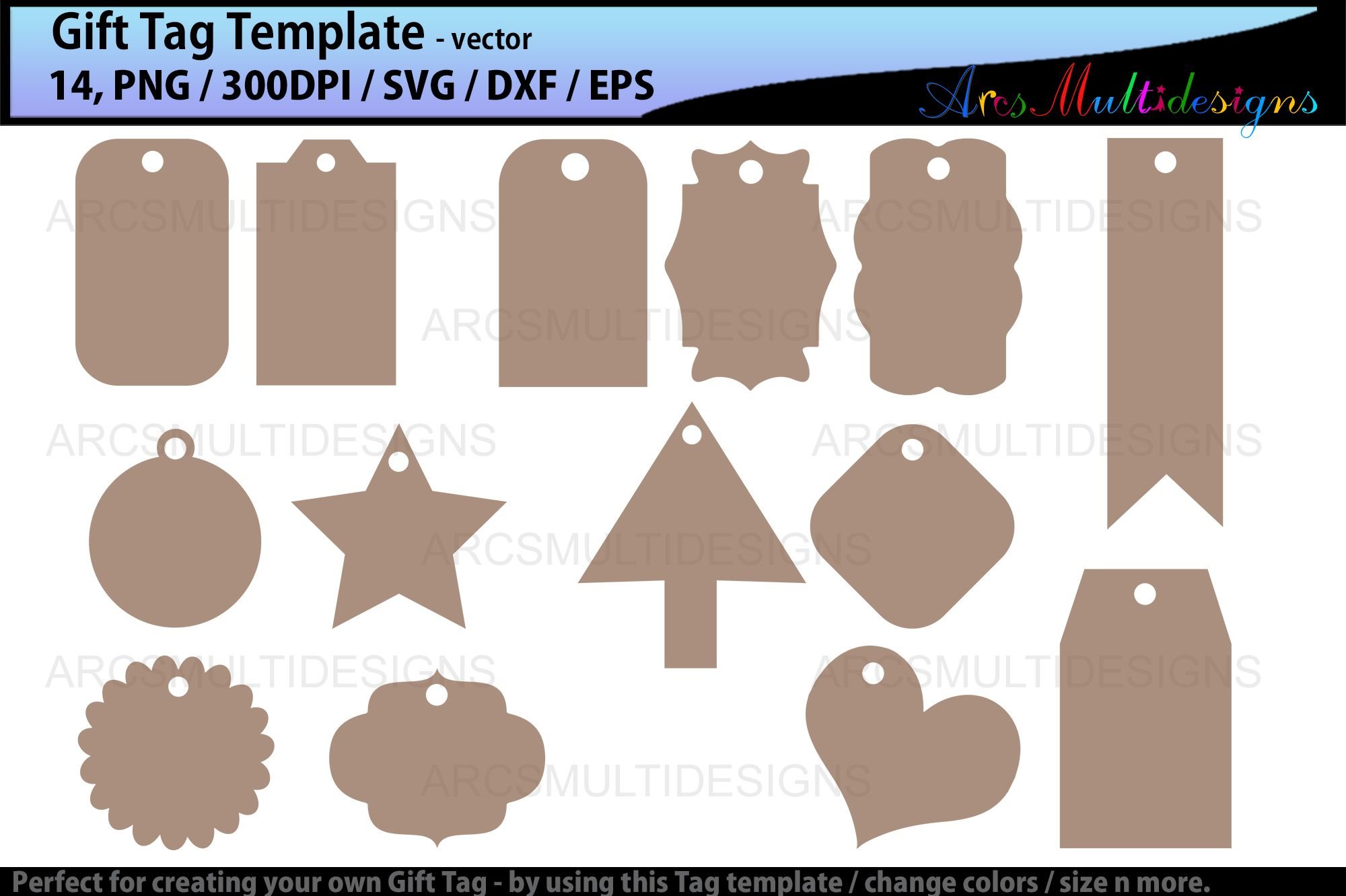Tag Shapes a digital scrapbooking tags embellishment