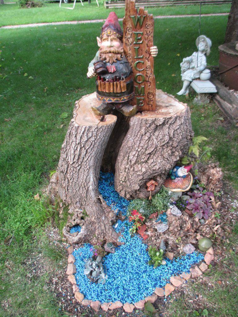 Tree Stump Ideas 37 Fairy Garden Pinterest Tree Stump Gnome