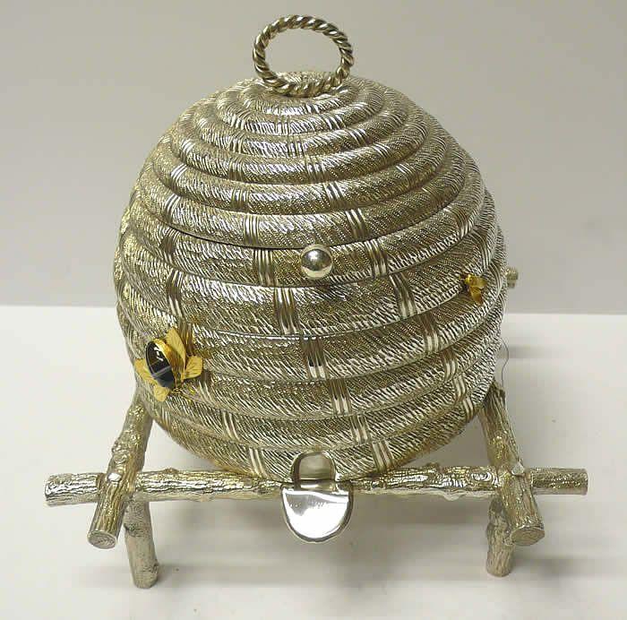 Bee Skep Honey Pot
