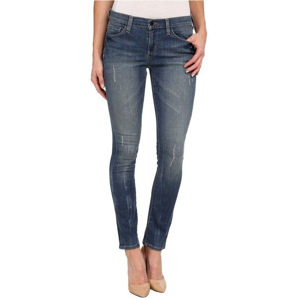 DKNY Jeans City Ultra Skinny in High Line Blue Wash Women's Jeans,... ($43) ❤ liked on Polyvore featuring jeans, blue, distressed skinny jeans, slim fit jeans, blue skinny jeans, ripped blue jeans and lined jeans