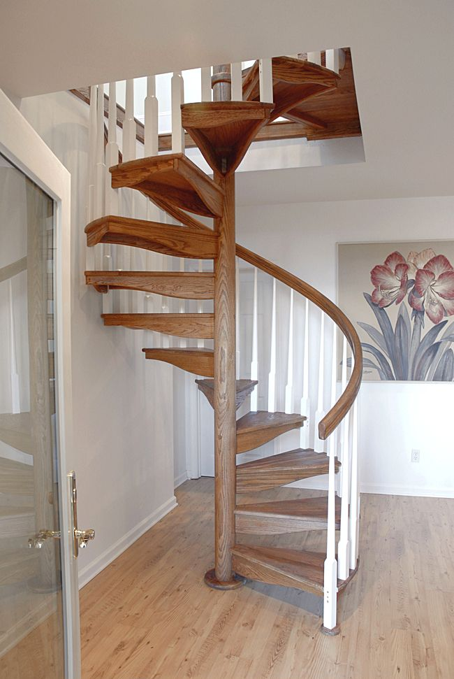 Wooden Spiral Stairs Custom Wood Stairs Spiral Stairs Cottage