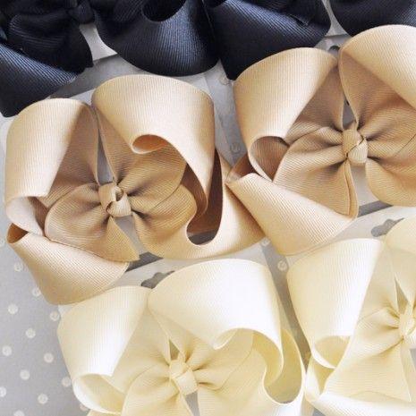 Set of basic school uniform boutique bows