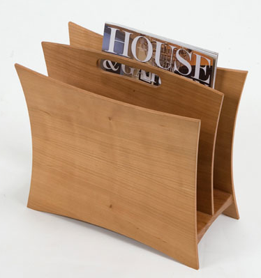 cherry wood magazine rack
