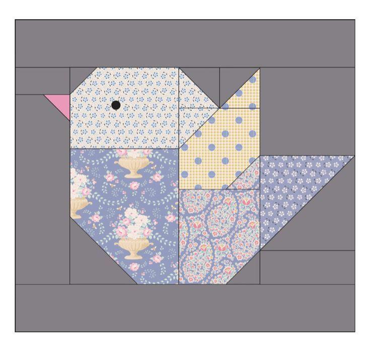 Bird Block - Tilda