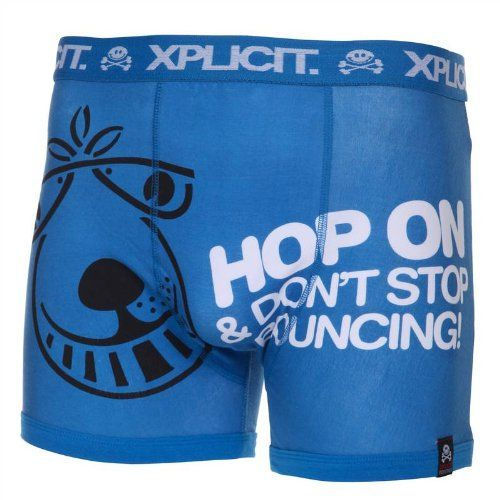 viele möglichkeiten Modern und elegant in der Mode kostengünstig Xplicit Industries Hop On Underwear Blue Mens Cotton Stretch ...