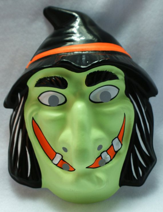 Vintage Witch Halloween Mask Rubies Costume By TheWildRobot
