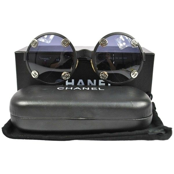 a04106d3cabc Pre-owned Ultra Rare Auth Chanel Cc Round Frame Vintage Sunglasses... (