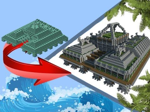 Minecraft Transformation Ocean Monument To Land Monument Today