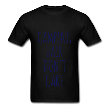 NAVY BLUE PRINT! Camping Hair Don't Care, Unisex T-Shirt