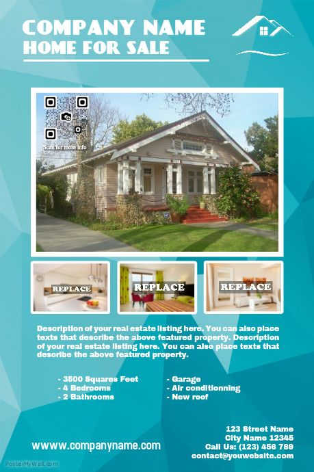 Cute real estate poster template http\/\/wwwpostermywall\/index - home sale flyer template