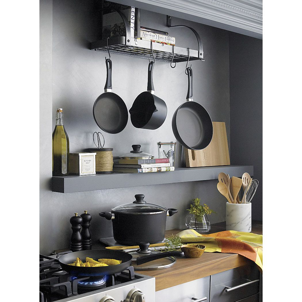 with enclume racks bookshelf wall premier in pot hammered shelf p steel rack hs