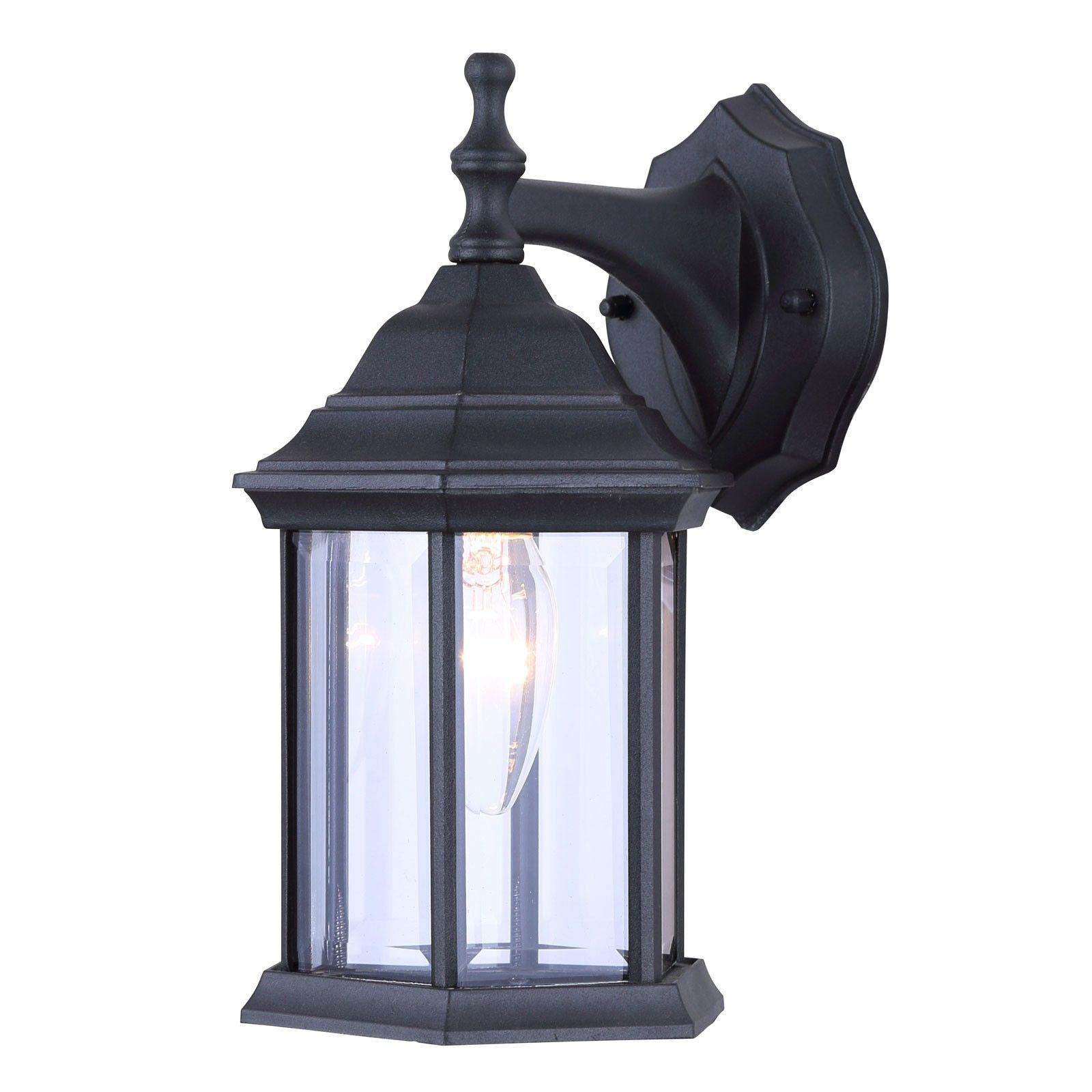 Canarm iol4bk exterior wall lantern light fixture outdoor sconce matte black