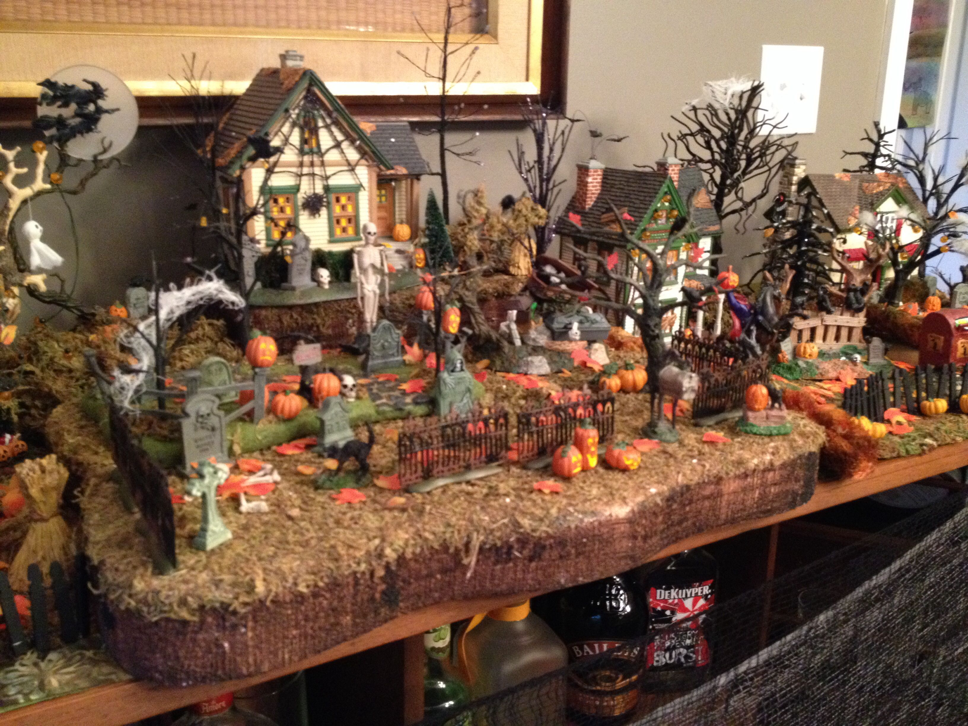 Halloween dept village ideas pinterest