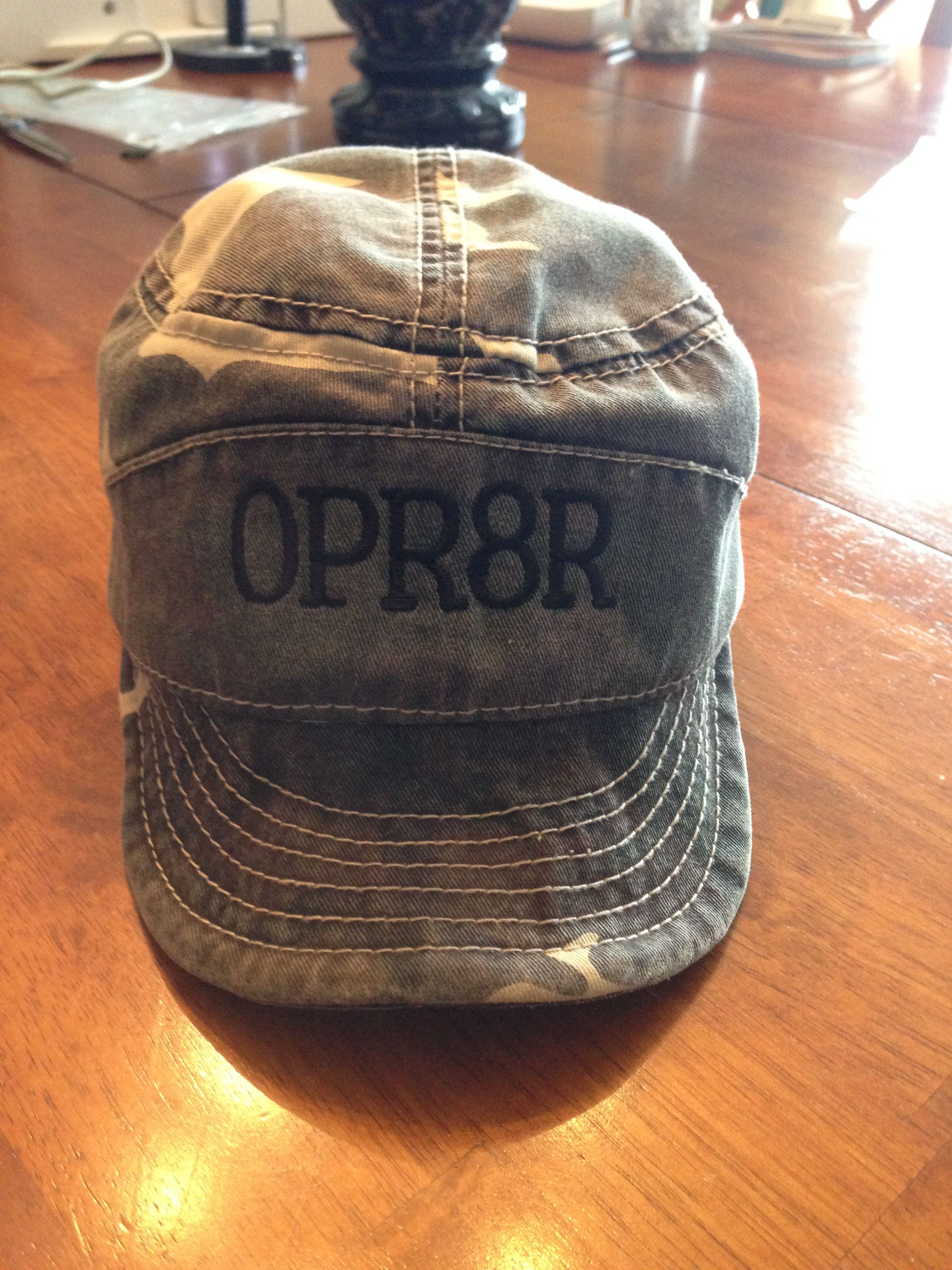 7219dfd1ab287 Put OPR8R on hubby s hunting cap with my Brother SE400 embroidery machine