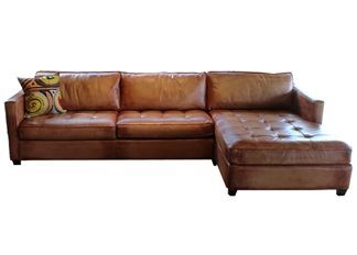 Artistic Leather Sofa Sectional Amaretto Chaise By