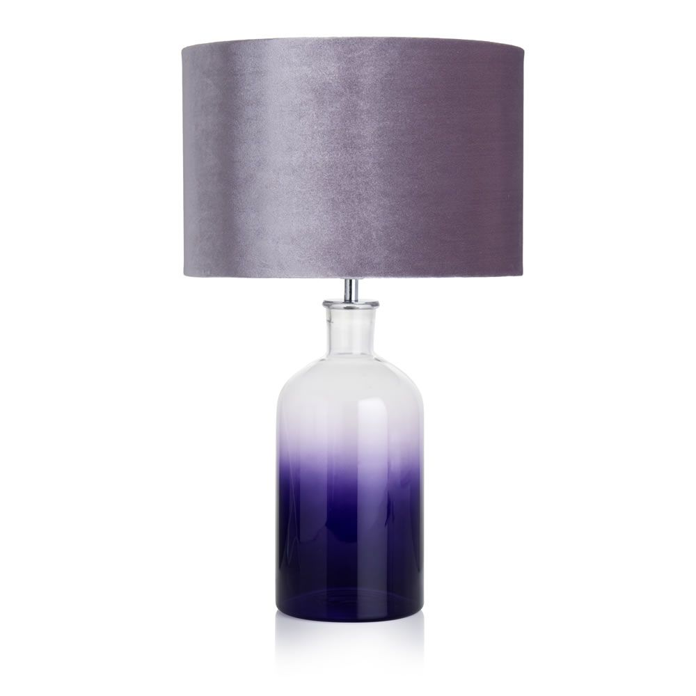 Ombre table lamp purple painting pinterest table lamp purple