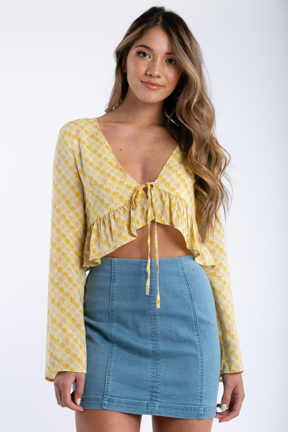 bd7be00229f Honey Bee Top in Yellow