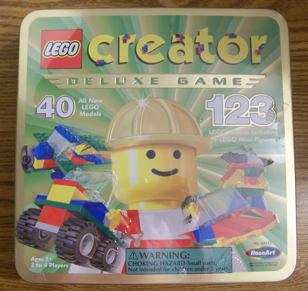 Lego Creator Deluxe Game The Race To Build It Board Game Vintage