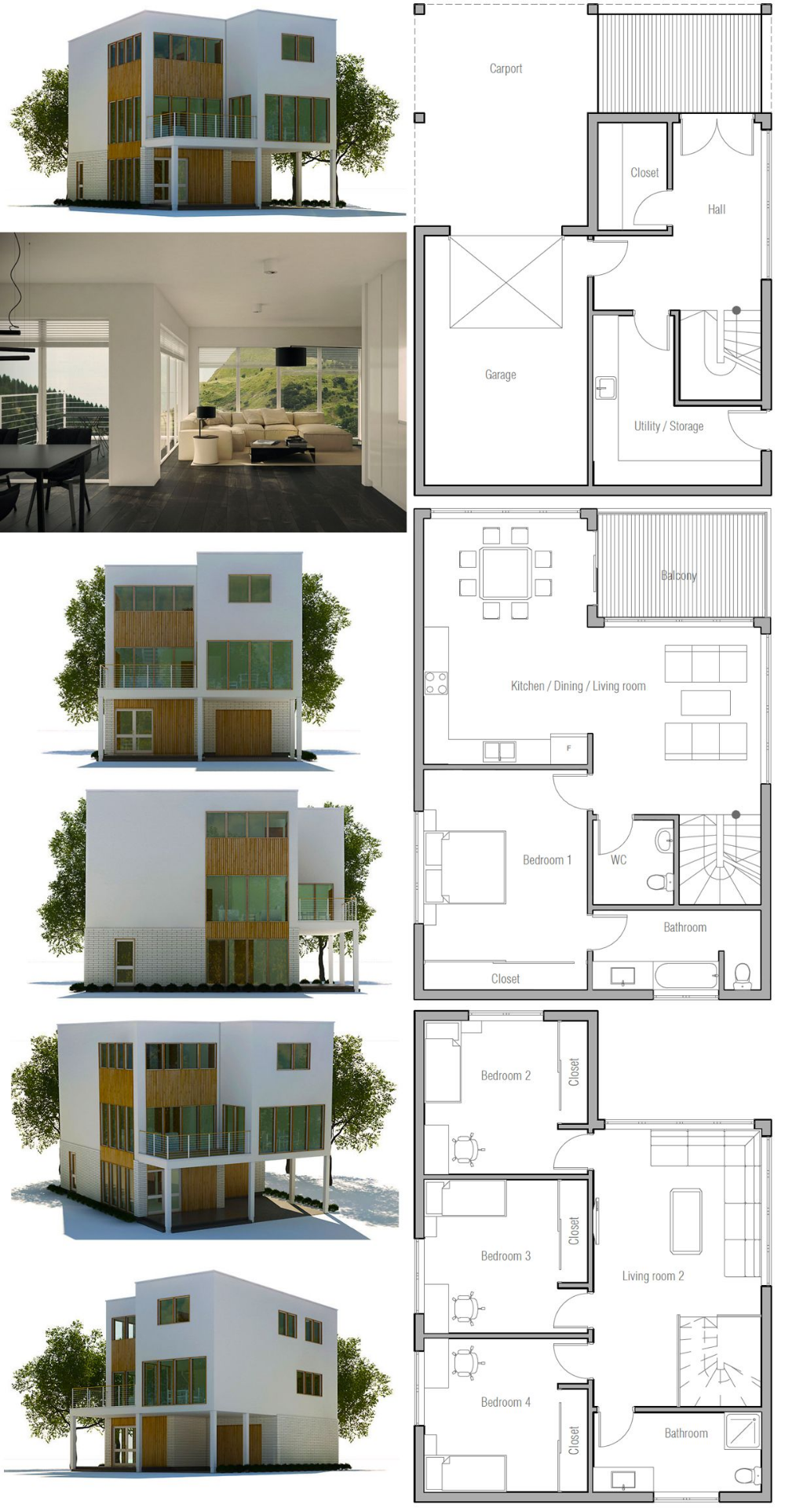 Minimalist House Design In 2021 Minimalist House Design Modern Minimalist House Modern House Plans