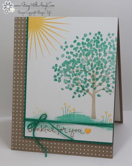 Stampin' Up! Sheltering Tree for the Happy Inkin' Thursday Blog Hop – Stamp With Amy K