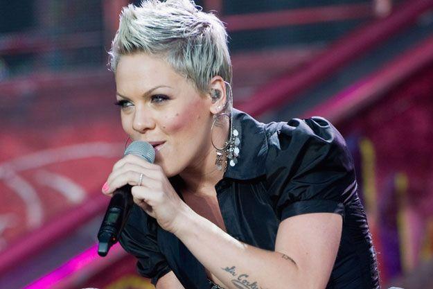 Pinks Hair Style: Singer Pink Short Hairstyles