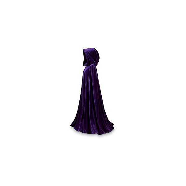 Purple Velvet Cape - Gothic Renaissance Medieval Celtic Wiccan Fairy... (€86) ❤ liked on Polyvore featuring cloaks, dresses, capes, jackets and fantasy