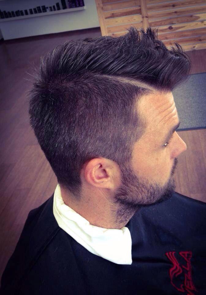 Einrasierter Scheitel Haare Scheitel Rasieren