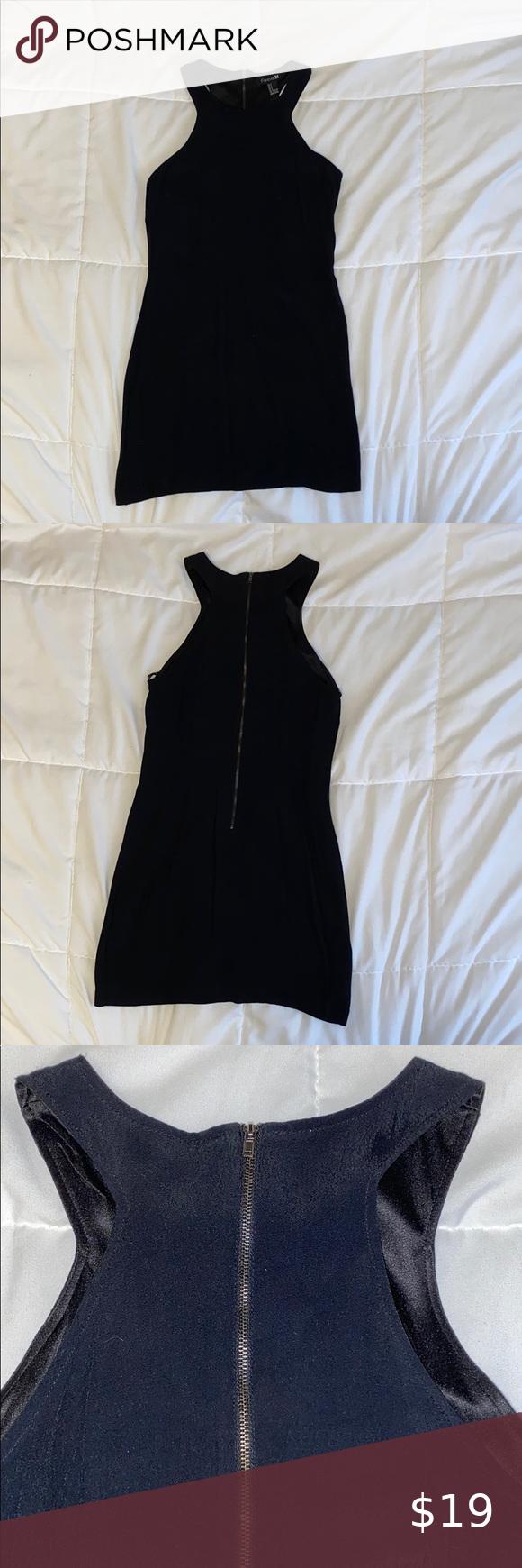 Black Dress Black Dress Dress Zipper Black Sleeveless Dress [ 1740 x 580 Pixel ]