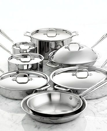 Stainless Steel 10-Pc  Cookware Set |