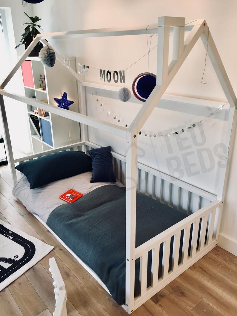 New Us Queen Size 60x80 Montessori Toddler Beds Frame Bed House