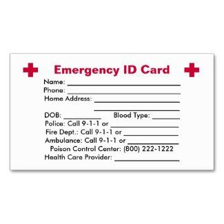 Firefighter Cards Emergency Id Card Business Cards Firefighter