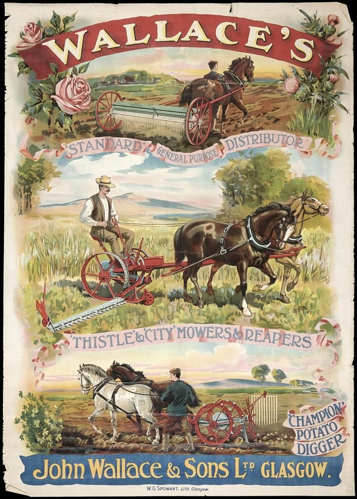 One poster advertising John Wallace and Sons Ltd, Glasgow ...