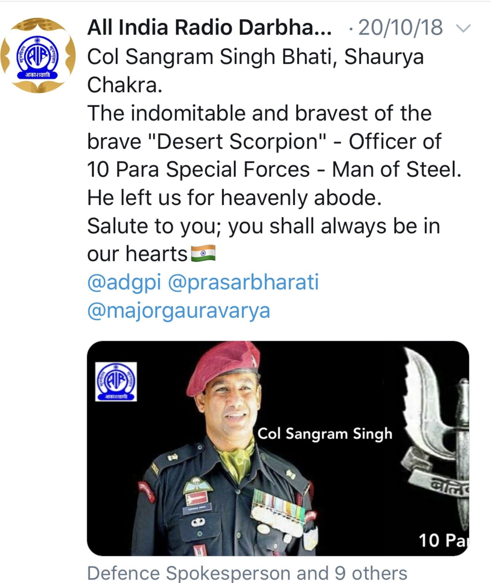 Pin By Vikram Singh Bhati On Col Sangram Singh Bhati Sango 10 Para Sf Man Of Steel Special Forces Man