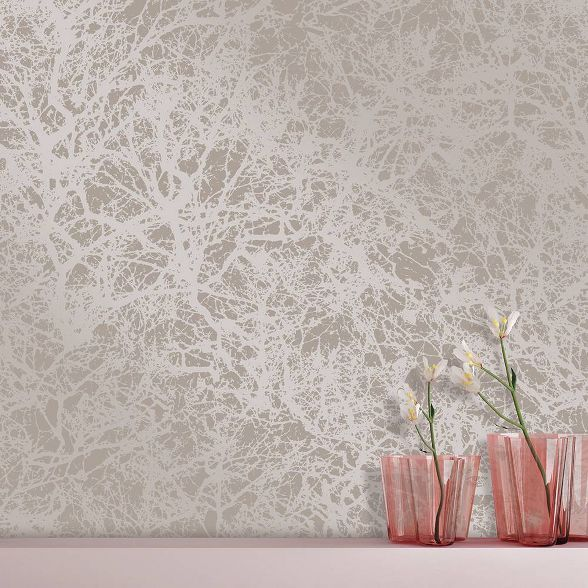 Forest Sterling SelfAdhesive Removable Wallpaper Silver