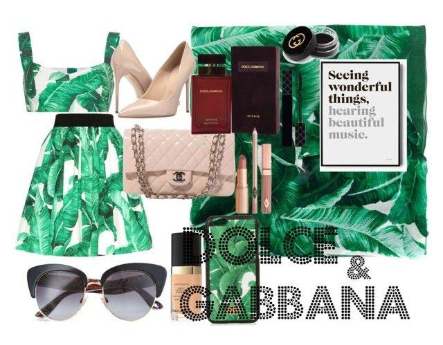"""""""DOLCE&GABBANA"""" by zosia-zawa ❤ liked on Polyvore featuring Dolce&Gabbana, Massimo Matteo, Chanel, Dolce Vita and Gucci"""