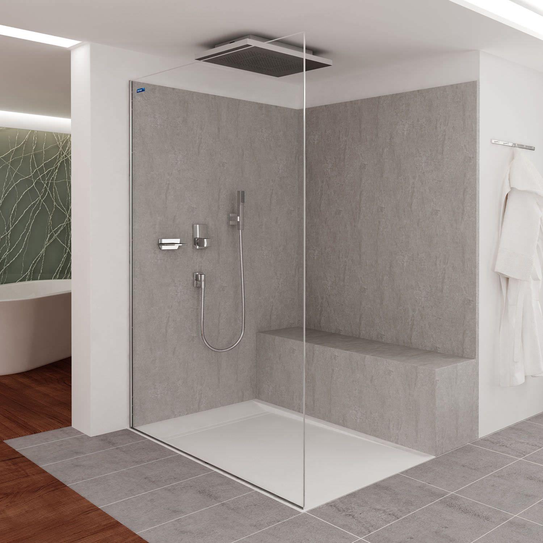 Rechteckige Duschwanne Fjord Air Duscholux Ag Modernes Badezimmerdesign Badezimmer Duschwanne