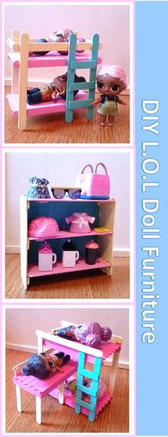 DIY L O L Doll Furniture out of Popsicle Sticks