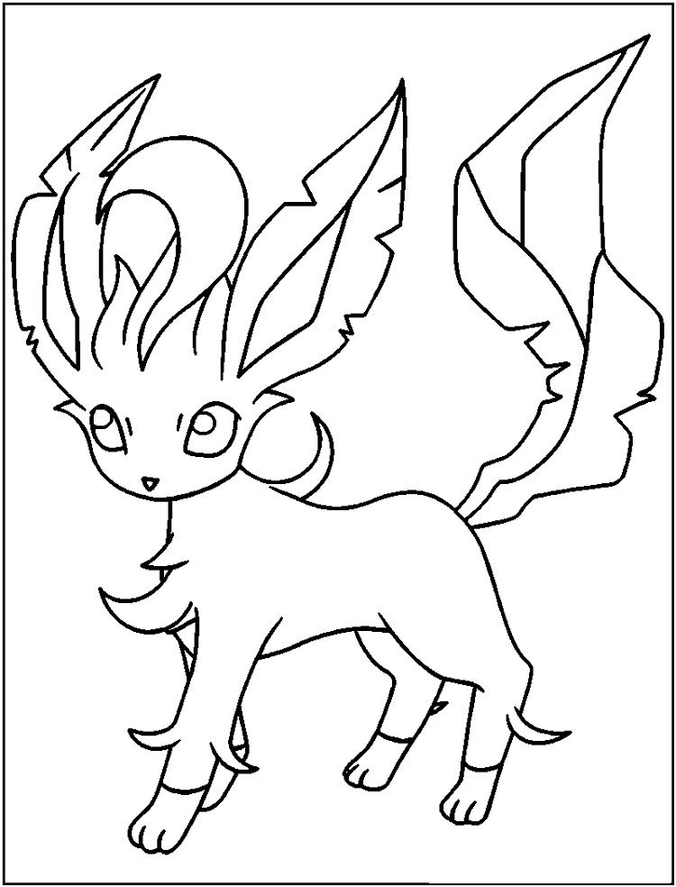 Pokemon Coloring Pages Leafeon With Images Pokemon Coloring