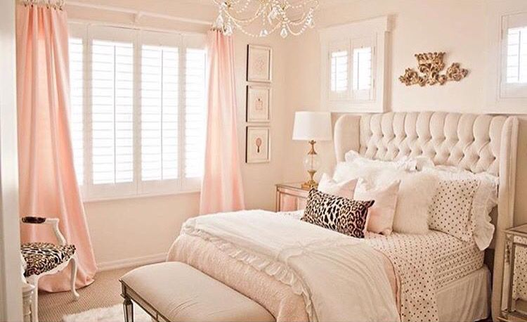 Lovely Gold And Light Pink Accent Bedroom By Randi -2065