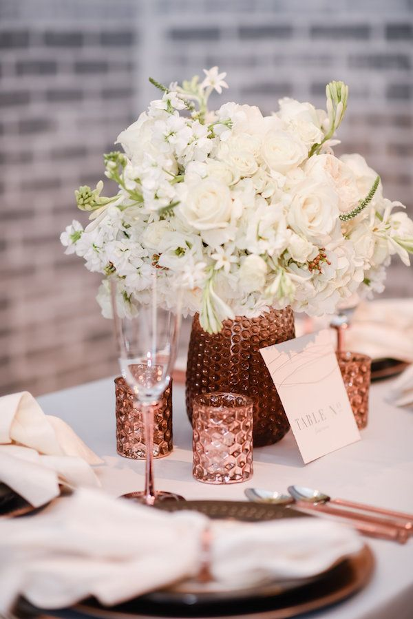 Copper And Rose Gold Wedding Inspiration Copper Wedding Wedding