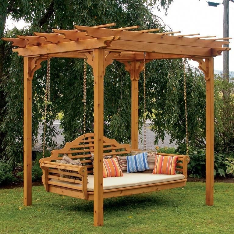 Photo of Pergola w / swing hangers