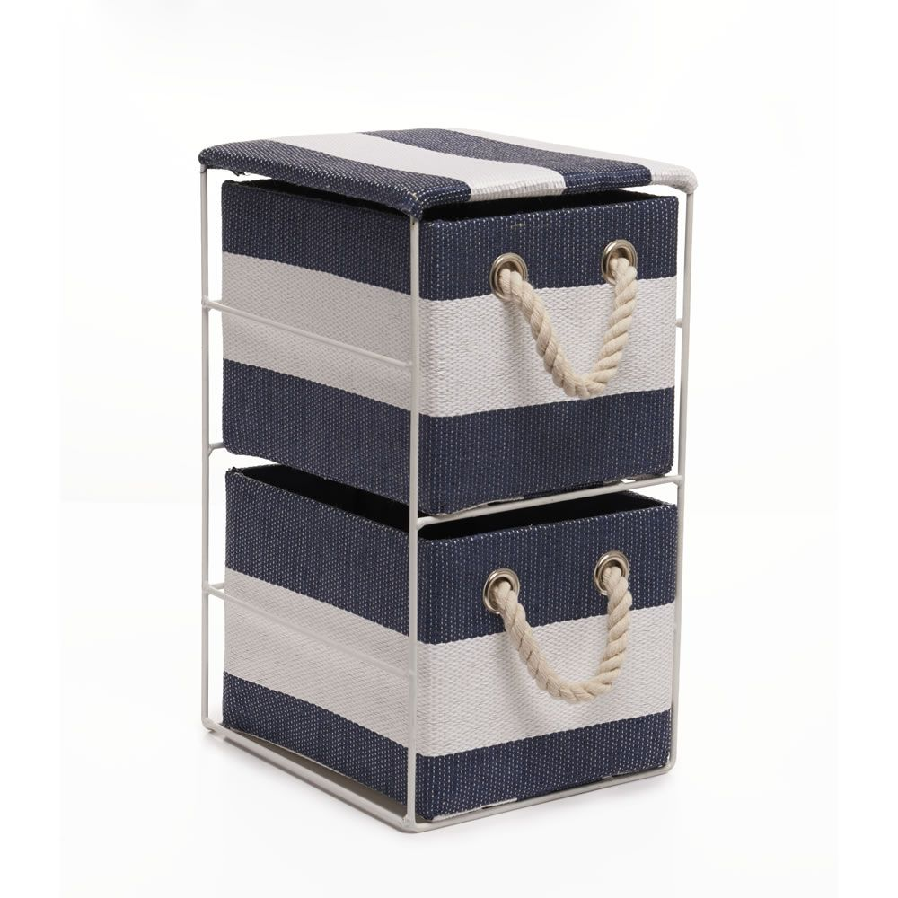 Wilko Bathroom Cabinet Wilko 2 Drawer Storage Unit Blue Striped At Wilkocom Nautical